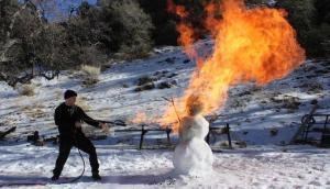 Snowman Flamethrower